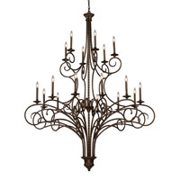 ELK 15044/12+6 Gloucester 18 Light 60 inch Antique Bronze Chandelier Ceiling Light photo thumbnail