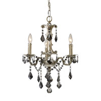 ELK Lighting Marseille 3 Light Chandelier in Weathered Silver 15045/3