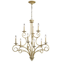 ELK Lighting Gloucester 9 Light Chandelier in Bleached Wood 15073/6+3