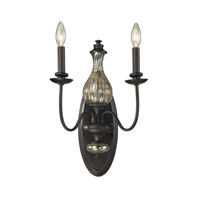 ELK Lighting Veronica 2 Light Wall Sconce in Vintage Rust 15080/2