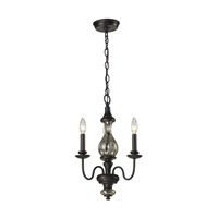 ELK Lighting Veronica 3 Light Chandelier in Vintage Rust 15082/3