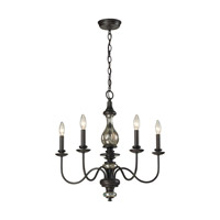 ELK Lighting Veronica 5 Light Chandelier in Vintage Rust 15083/5