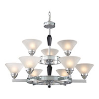 ELK Lighting Trump Home Central Park Mercer 9 Light Chandelier in Polished Chrome 1509/6+3