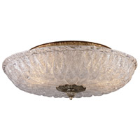 Providence 2 Light 15 inch Antique Silver Leaf Flush Mount Ceiling Light