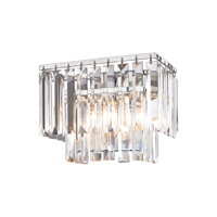 Palacial 1 Light 10 inch Polished Chrome Vanity Wall Light in Standard