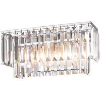 Palacial 2 Light 15 inch Polished Chrome Vanity Wall Light in Standard