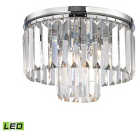 Palacial LED 12 inch Polished Chrome Semi Flush Mount Ceiling Light