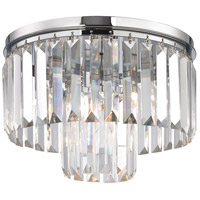 Palacial 1 Light 12 inch Polished Chrome Semi Flush Mount Ceiling Light in Standard