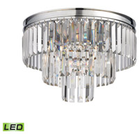 Palacial LED 19 inch Polished Chrome Semi Flush Mount Ceiling Light