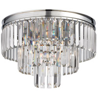 Palacial 3 Light 19 inch Polished Chrome Semi Flush Mount Ceiling Light in Standard