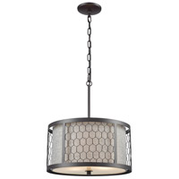 Filmore 3 Light 16 inch Oil Rubbed Bronze Pendant Ceiling Light