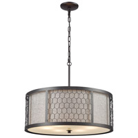 Filmore 6 Light 23 inch Oil Rubbed Bronze Pendant Ceiling Light