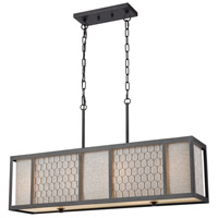 Filmore 4 Light 35 inch Oil Rubbed Bronze Billiard Island Ceiling Light