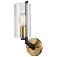 Blakeslee 1 Light 5 inch Matte Black and Satin Brass Wall Sconce Wall Light