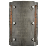 Halstead 1 Light 7 inch Ash Gray and Dark Gray Wood Wall Sconce Wall Light
