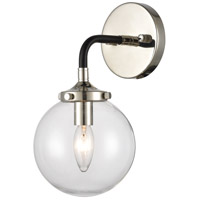 Polished Nickel Glass Boudreaux Wall Sconces