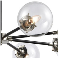 ELK 15357/8 Boudreaux 8 Light 36 inch Matte Black with Polished Nickel Chandelier Ceiling Light alternative photo thumbnail