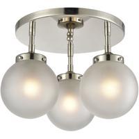 ELK 15362/3 Boudreaux 3 Light 15 inch Polished Nickel Semi Flush Mount Ceiling Light