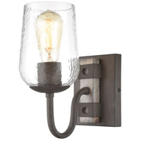 ELK 15370/1 Dillon 1 Light 8 inch Vintage Rust with Colonial Maple Vanity Light Wall Light