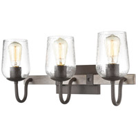 ELK 15372/3 Dillon 3 Light 22 inch Vintage Rust with Colonial Maple Vanity Light Wall Light