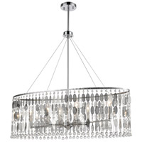 ELK 15383/6 Chamelon 6 Light 36 inch Polished Chrome Island Light Ceiling Light