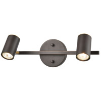 ELK 15412/2 Kempton 2 Light 16 inch Matte Black with Satin Brass Vanity Light Wall Light