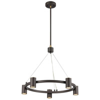 ELK 15416/5 Kempton 5 Light 24 inch Matte Black with Satin Brass Chandelier Ceiling Light