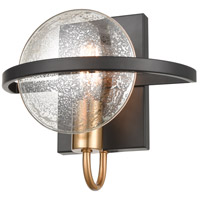 Oriah 1 Light 10 inch Matte Black with Satin Brass Sconce Wall Light