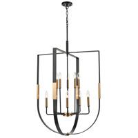 Matte Black and Brass Steel Chandeliers