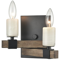 ELK 15461/2 Stone Manor 9 inch Aspen/Matte Black Sconce Wall Light