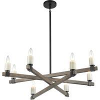 ELK 15466/8 Stone Manor 34 inch Aspen/Matte Black Chandelier Ceiling Light