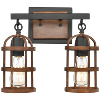 ELK 15483/2 Millville 13 inch Oil Rubbed Bronze/Dark Oak Vanity Light Wall Light