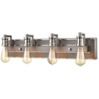 ELK 15494/4 Gridiron 29 inch Weathered Zinc/Polished Nickel Vanity Light Wall Light