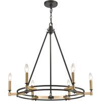 ELK 15605/6 Talia 29 inch Oil Rubbed Bronze/Satin Brass Chandelier Ceiling Light
