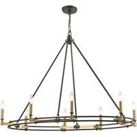 ELK 15607/8 Talia 42 inch Oil Rubbed Bronze/Satin Brass Island Light Ceiling Light