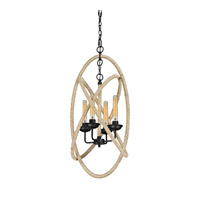 ELK Lighting Pearce 4 Light Chandelier in Matte Black 15901/4