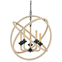 Pearce 5 Light 32 inch Matte Black Chandelier Ceiling Light