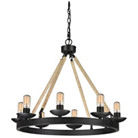 Pearce 8 Light 31 inch Matte Black Chandelier Ceiling Light