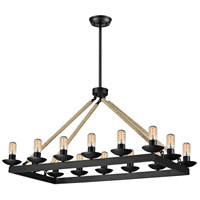 ELK 15904/14 Pearce 14 Light 24 inch Matte Black Chandelier Ceiling Light