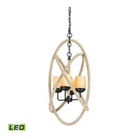 ELK Lighting Pearce LED Chandelier in Matte Black 15911/4-LED