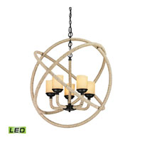 ELK Lighting Pearce LED Chandelier in Matte Black 15912/5-LED