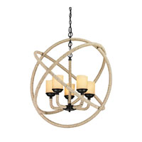 ELK Lighting Pearce 5 Light Chandelier in Matte Black 15912/5