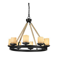 ELK Lighting Pearce 8 Light Chandelier in Matte Black 15913/8