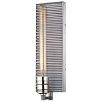 Corrugated Steel 1 Light 5 inch Polished Nickel with Weathered Zinc Wall Sconce Wall Light in Weathered Zinc and Polished Nickel