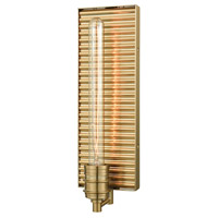 Corrugated Steel 1 Light 5 inch Satin Black Wall Sconce Wall Light in Satin Brass