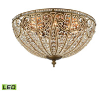 Elizabethan LED 22 inch Dark Bronze Flush Mount Ceiling Light