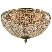 Elizabethan 8 Light 22 inch Dark Bronze Flush Mount Ceiling Light in Standard