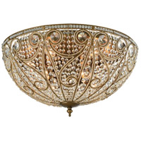 Elizabethan 10 Light 28 inch Dark Bronze Flush Mount Ceiling Light in Standard