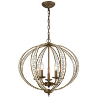Elizabethan 5 Light 21 inch Dark Bronze Chandelier Ceiling Light