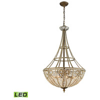 ELK 15966/8-LED Elizabethan LED 22 inch Dark Bronze Chandelier Ceiling Light